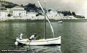 Sailing boat in Korcula (1940s)