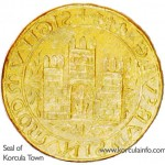 Seal of the town of Korcula