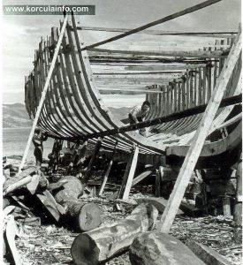 Shipbuilders in Borak shipyard, Korcula 1920s
