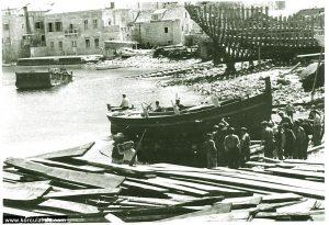 Shipyard in Borak, Korcula