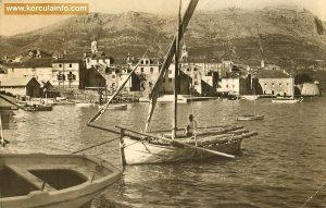 Shipyard in Korcula - Borak 1950s