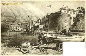Shipyard in Sveti Nikola, Korcula in 1910s