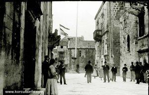 St Mark's Square, Korcula in 1900s