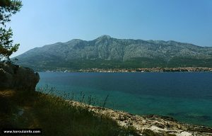 Views from Stupe over the Channel Orebic and Peljesac