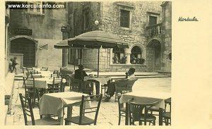 Square: Trg Antuna i Stjepana Radica in Korcula, 1930s