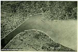 Birdsview of Vela Luka bay (1920s)