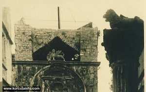 Winged Lions of Venice (Lions of St Mark) on Korcula Square Photo of Winged Lions of Venice (Lions of St Mark) on Korcula Square sometime before 1930