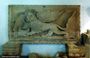 Winged Lion of Venice (Lion of St Mark) in Korcula Town Museum