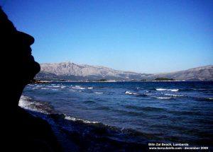 Windy winter day on Bilin Zal beach