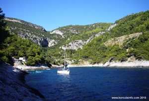 Sailing Boat in Bacva bay