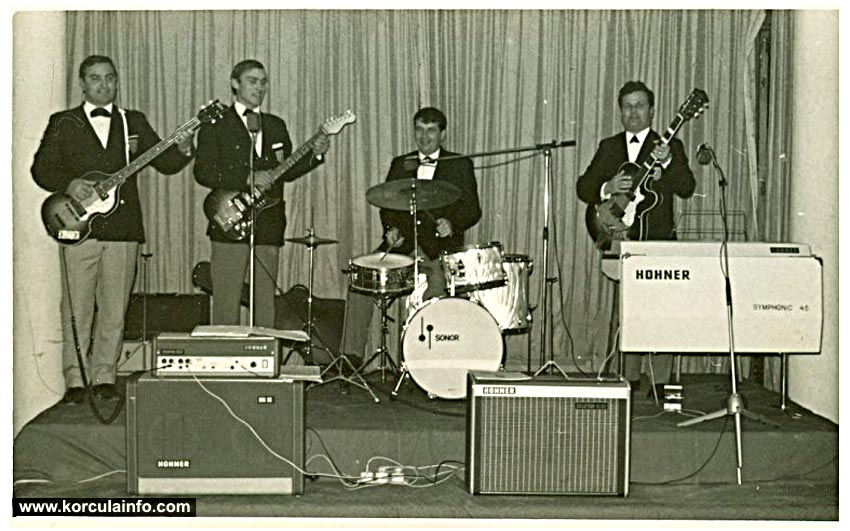 "Local band ""VIS Korkyra"" in 1960s"