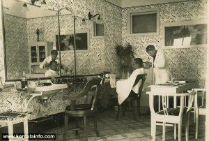 Barbershop in Korcula in 1932