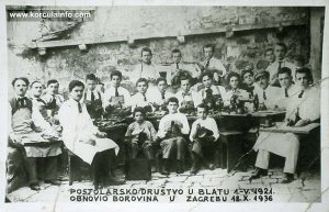 Blato Shoemakers in 1921