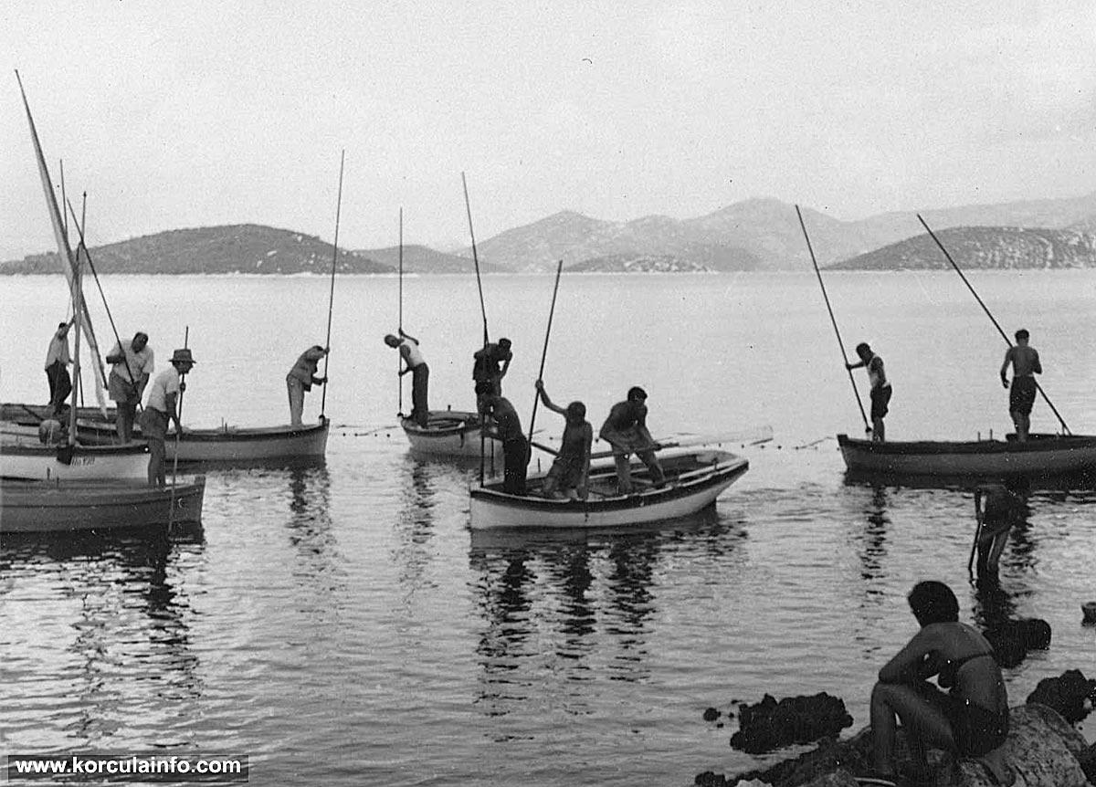 fishing near peljesac  1950s