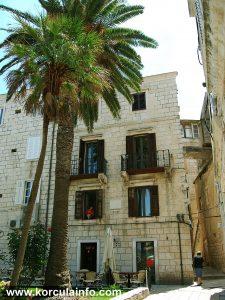 The Facade of Hotel Fabris - Korcula