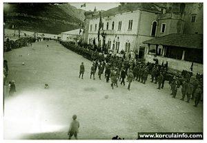Military Parade @ Riva, Korcula 1920s