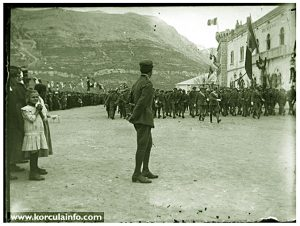 Italian Soldiers @ Military Parade - Riva, Korcula 1920s