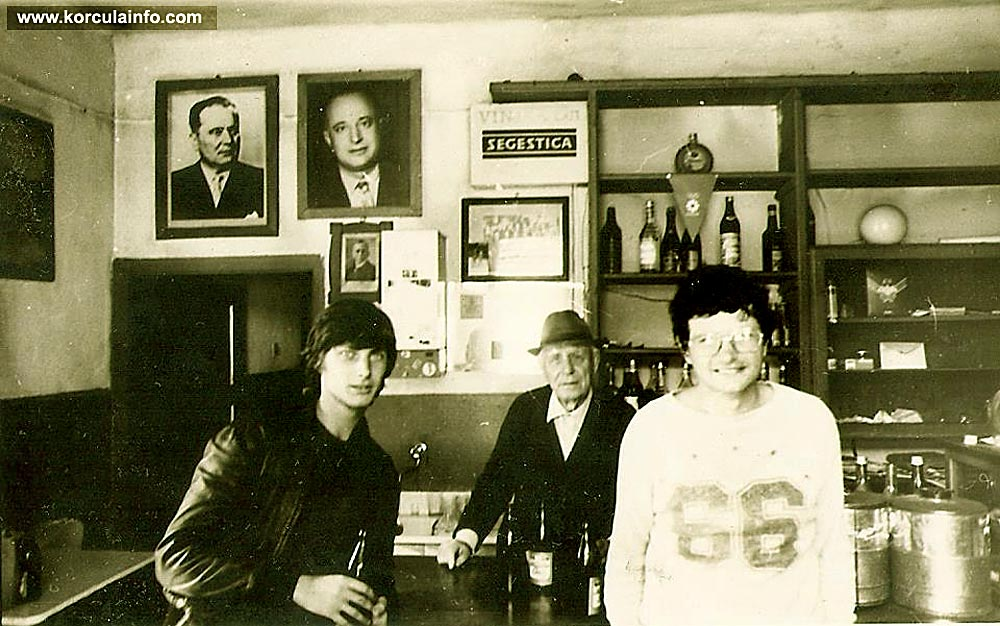 Locals in krcma Mali Ucijak, Blato - mid 1970's