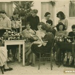 Group of women from Korcula doing some needle work in May 1945