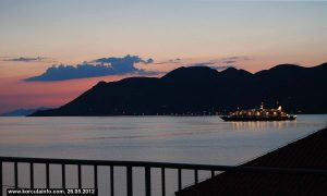 Sunset colours of Peljesac Channel