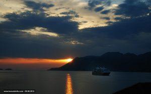 Peljesac Channel Sunset - viewed from Korcula Island