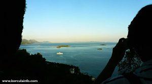 Taking photo of Ferry in Peljesac Channel