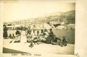 Group of people in Korcula 1923