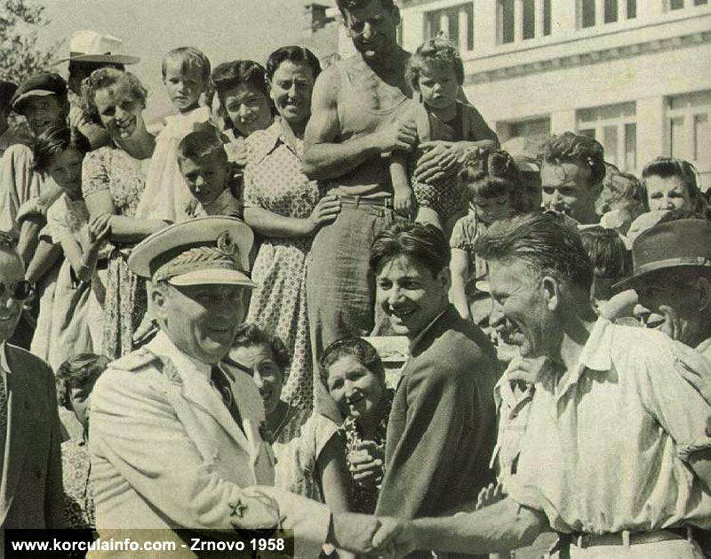 Josip Broz Tito in Zrnovo (Korcula Island) in 1958