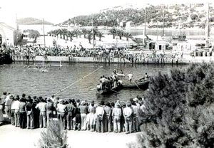 Playing Water Polo in Vela Luka in 1953