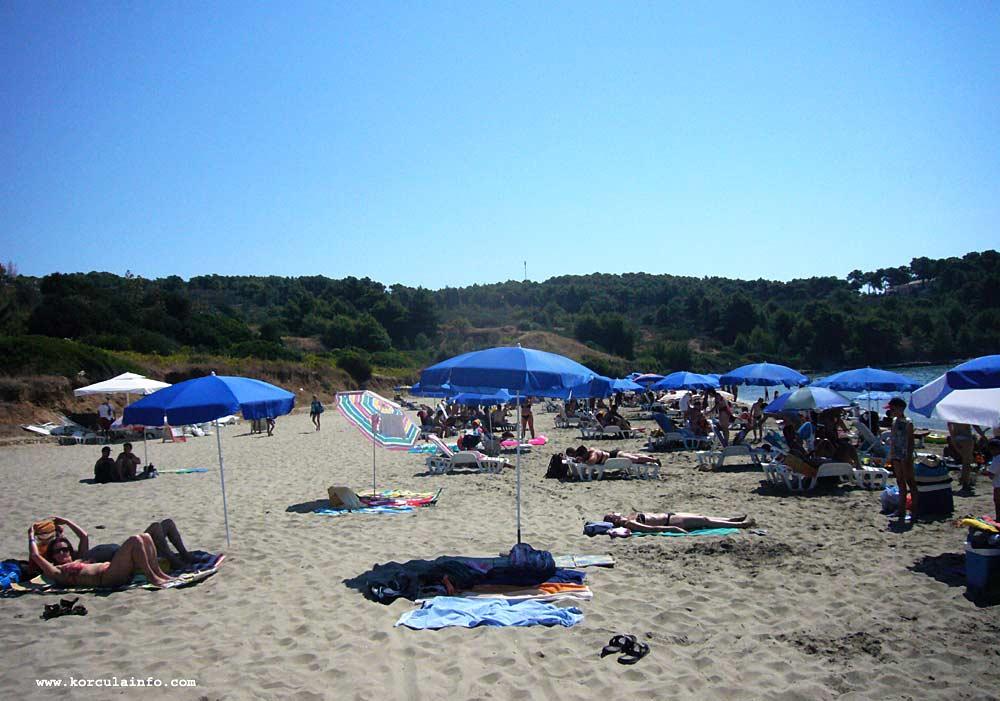 Crowd at the Vela Przina Beach