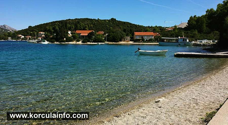 Vrbovica Beach and bay - Korcula Island