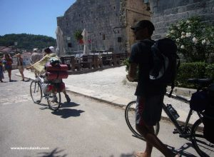 Cycling along the town walls