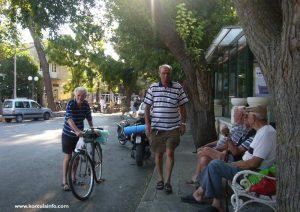 Local cyclist in Lumbarda