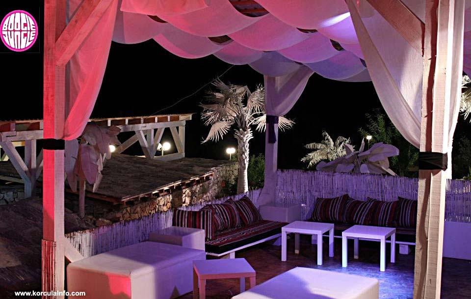 Open air Boogie Jungle Lounge Bar, Korcula