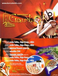 Leaflet by Discoteque Gaudi Korcula