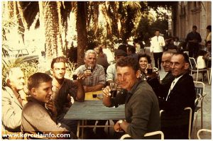 Group of Locals Drinking @ Terrace of Hotel Korcula (1960s)