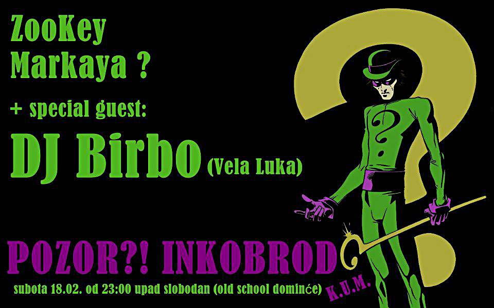 Pozor Inkobrod - regular club night in Korcula