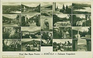 Hotel Bon Repos postcard from 1935