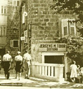 Gostiona Todor Jericevic, Korcula, 1930s