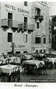 Hotel Europa in Korcula 1920's