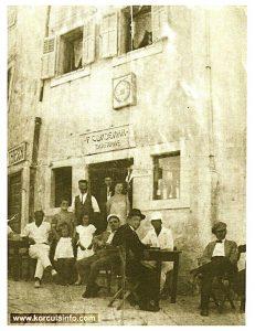 Kafana Condenar @Korcula in 1930