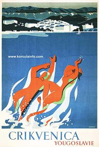 Tourist Poster from 1950s - Crikvenica