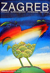 Zagreb Surroundings - Tourist Promotional Poster (Nedeljko Dragic 1980)