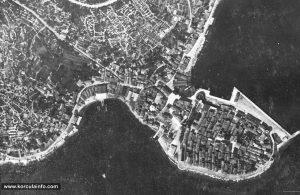 Birds Eye View of Korcula in 1900s