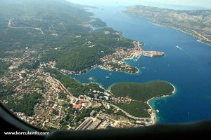 From the Airplane - Korcula