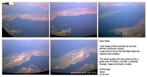 From the aeroplane over Korcula