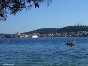 Korcula viewed from Peljesac
