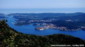 Korcula - from Sveti Ilija Mountain