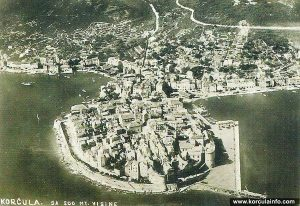 Panorama Korcula from 1920s