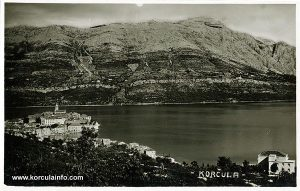 Panorama Korcula from 1930s
